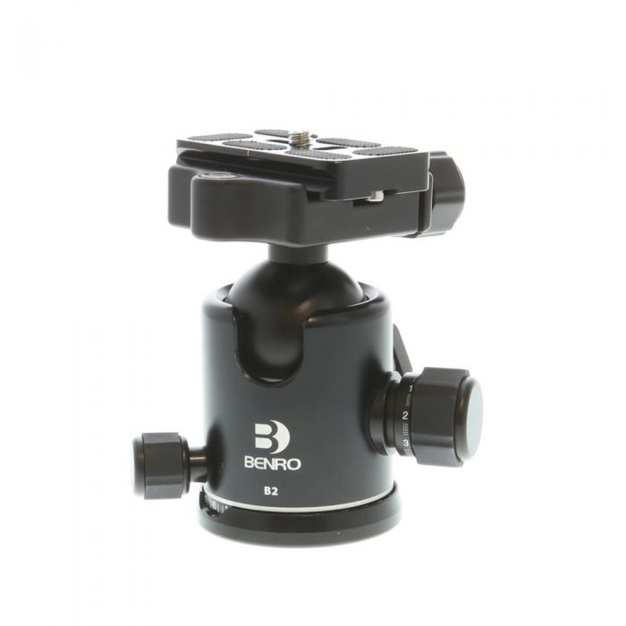 Benro B2 Double Action Ballhead for Tripod with P&T Knob Quick Release Clamp