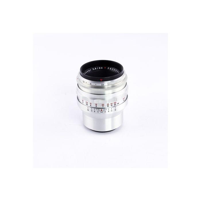 Zeiss Jena 80mm f/2.8 Tessar T Preset M42 Screw Mount Lens {49}