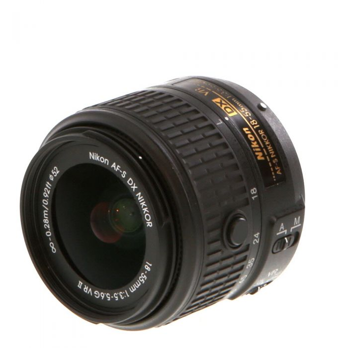 Nikon AF-S DX Nikkor 18-55mm f/3.5-5.6 G VR II Autofocus Lens for APS-C Sensor DSLR, Black {52}