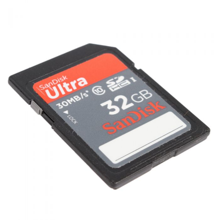 Sandisk 32GB 30 MB/S Class 10 Ultra SDHC Memory Card