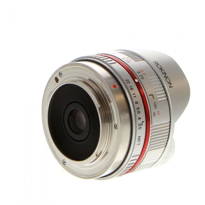 Rokinon 7.5mm f/3.5 UMC Fisheye Manual Focus Lens for MFT Micro Four Thirds, Silver