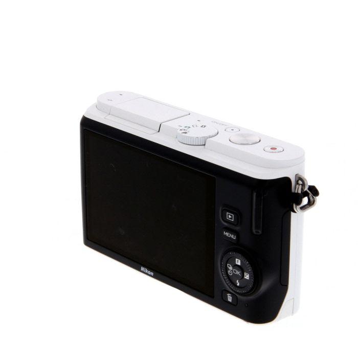 Nikon 1 J3 Mirrorless Digital Camera, White With 10-30mm F/3.5-5.6 VR Lens, White {40.5}{14.2 M/P}