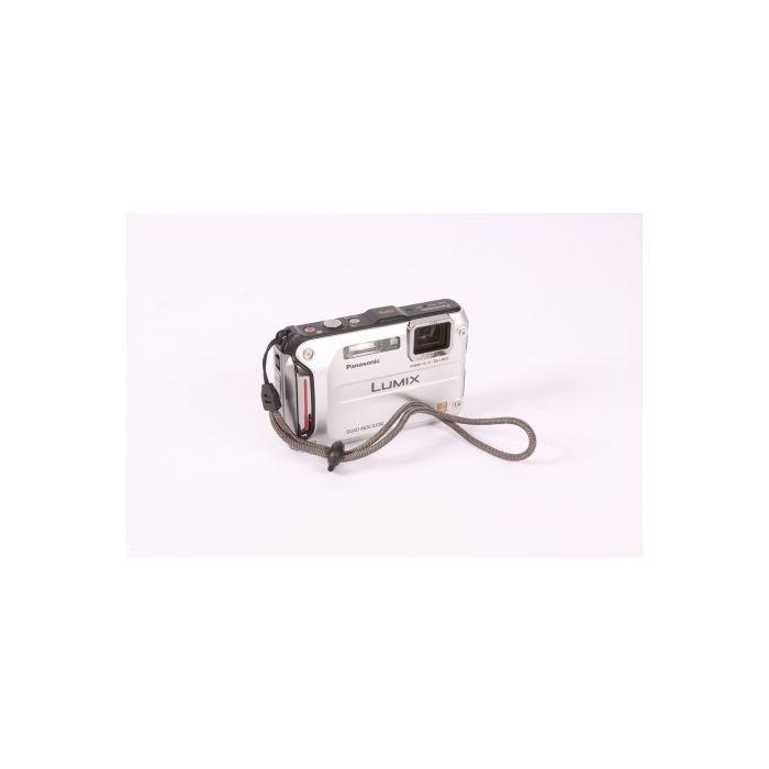 Panasonic Lumix DMC-TS4 Silver Waterproof Underwater Digital Camera {12.1 M/P}