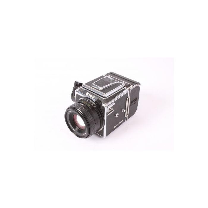 Kiev 88 CM 6x6 SLR Camera, Chrome with 80mm f/2.8 Arsat C, 120 Film Back, Waist Level Hood (Pentacon Six Mount)