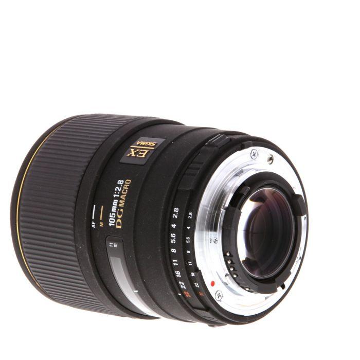 Sigma 105mm f/2.8 EX DG Macro (1:1) 5-Pin Autofocus Lens for Nikon {58}