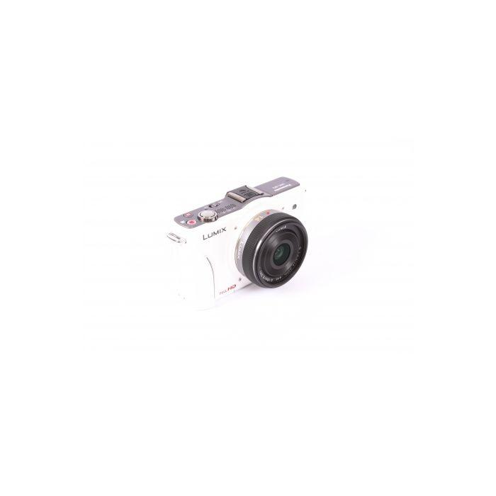 Panasonic Lumix DMC-GF2 Digital Camera, White, With 14mm F/2.5 G Aspheric Lens, Silver {12.1 M/P}[46]