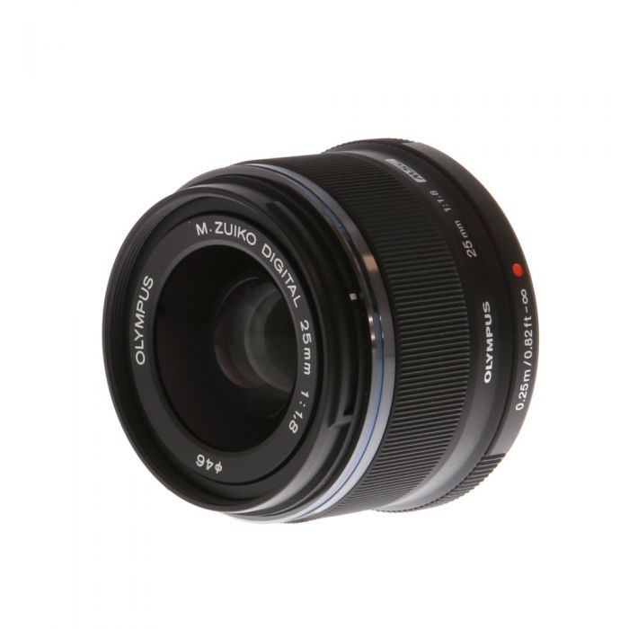 Olympus 25mm f/1.8 M.Zuiko MSC Black Autofocus Lens for Micro Four Thirds System {46} with Decoration Ring