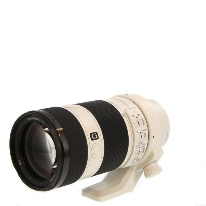 Sony FE 70-200mm f/4 G OSS AF E-Mount Lens, White {72} with Tripod Mount (SEL70200G)