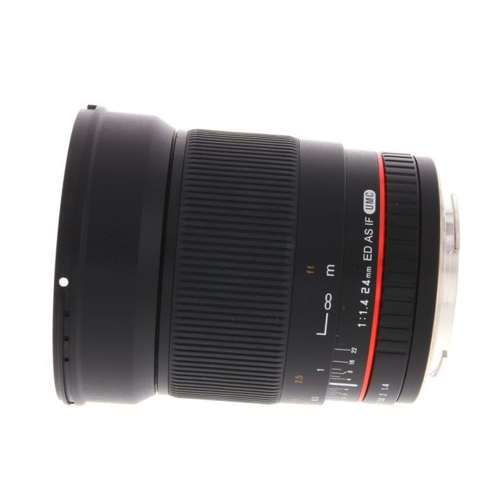 Rokinon 24mm f/1.4 ED AS IF UMC Manual Lens for Canon EF-Mount {77}