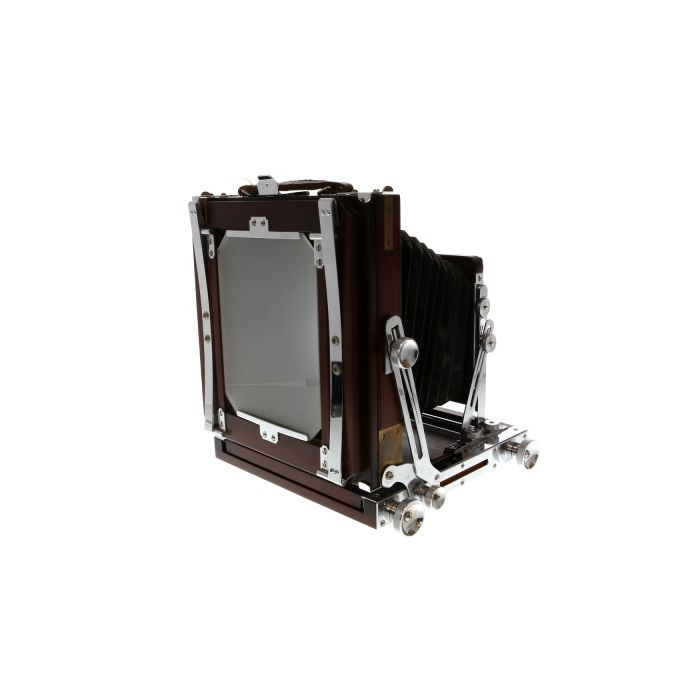 Ikeda 4X5 Anba Wood View Field Folding View Camera with Chrome Fittings