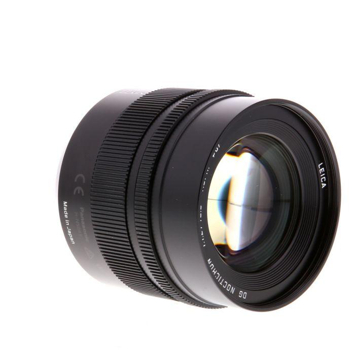 Panasonic Lumix Leica 42.5mm f/1.2 DG Nocticron ASPH. Power O.I.S. AF Lens for Micro Four Thirds MFT, Black {67} H-NS043