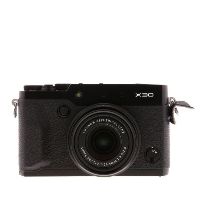 Fujifilm X30 Digital Camera, Black {12MP}