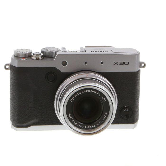 Fujifilm X30 Digital Camera, Silver {12MP}