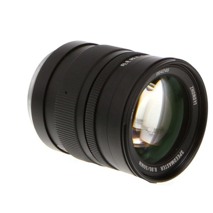 Mitakon Zhongyi 50mm F/0.95 SpeedMaster Manual Focus Lens For Sony E Mount, Black {67}