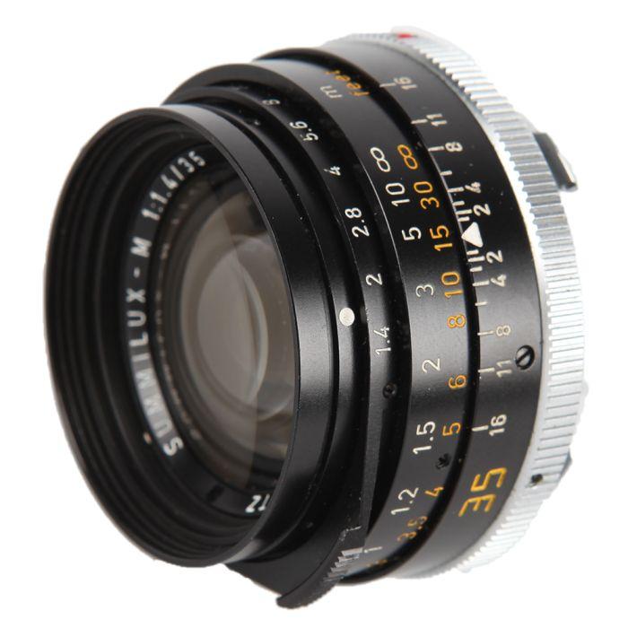 Leica 35mm F/1.4 Summilux-M 70 Anniversary 1913-83 M-Mount Lens, Canada Black {Series 7 In Hood}