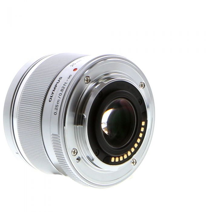 Olympus 25mm f/1.8 M.Zuiko MSC Silver Autofocus Lens for Micro Four Thirds System {46} with Decoration Ring