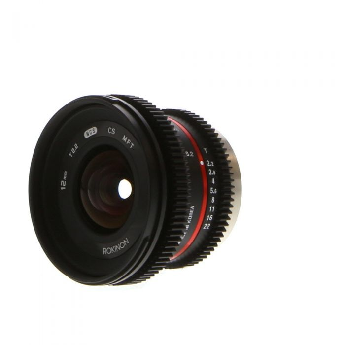 Rokinon Cine 12mm T2.2 NCS CS MFT Manual Lens for Micro Four Thirds MFT Mount, Black {67}