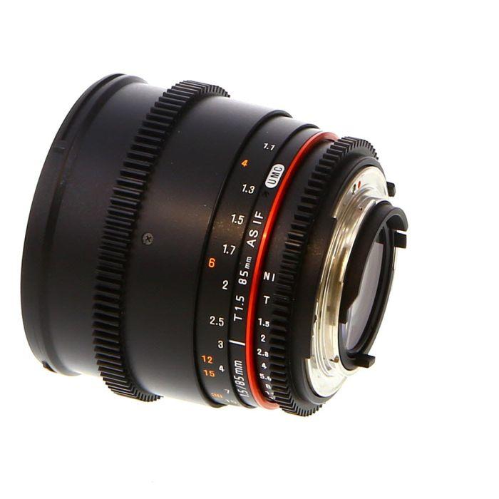 Rokinon Cine 85mm T1.5 AS IF UMC Manual Lens for Nikon