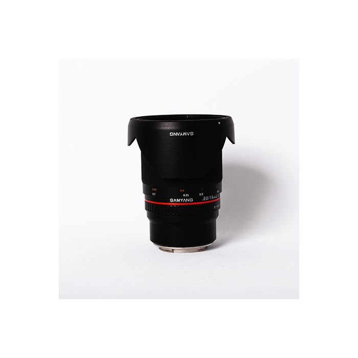 Samyang 16mm F/2 ED AS UMC CS Manual Focus Lens For Canon Mirrorless EF-M Mount, Black {77}