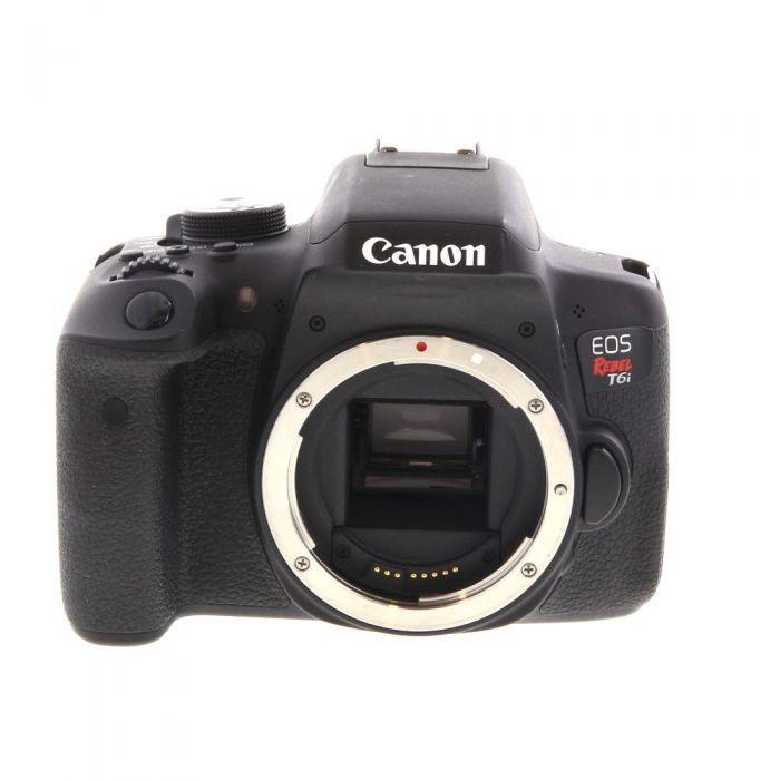 Canon EOS Rebel T6I DSLR Camera Body, Black {24MP}