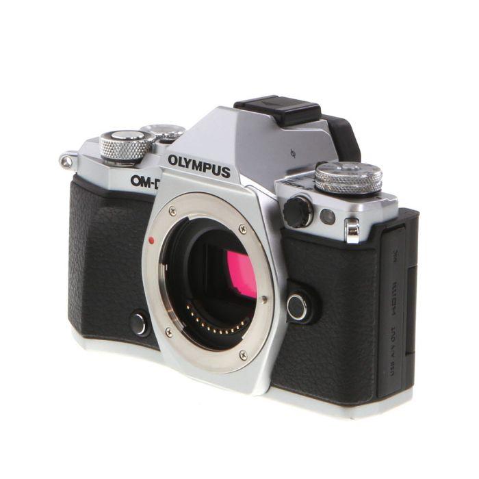 Olympus OM-D E-M5 Mark II Mirrorless Micro Four Thirds Digital Camera Body, Silver {16.1MP} with FL-LM3 Flash