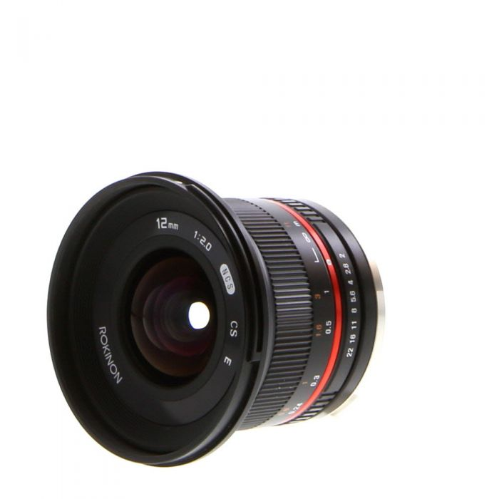 Rokinon 12mm f/2 NCS CS Manual Focus Lens for Sony E-Mount, Black {67}