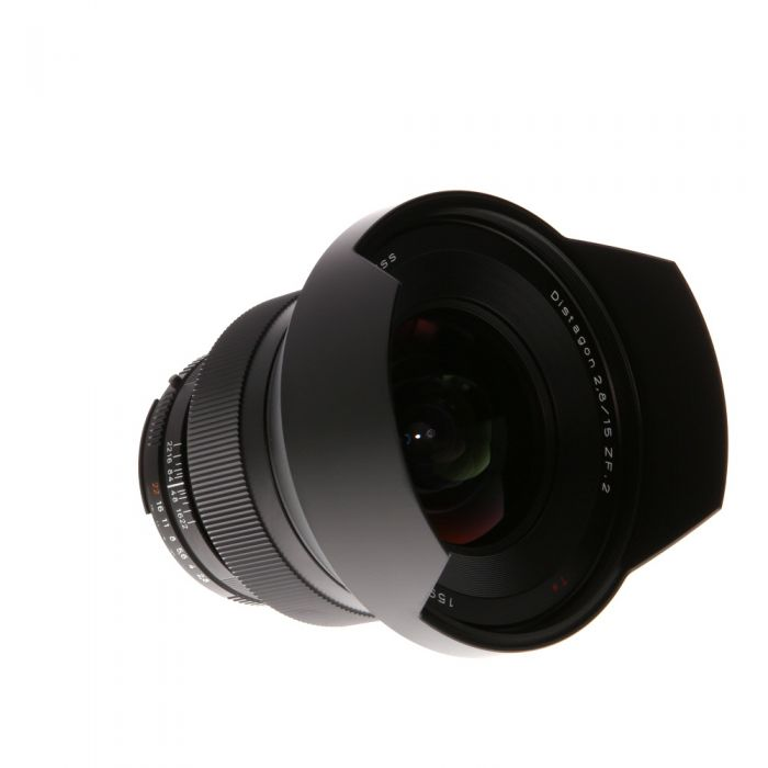 Zeiss 15mm f/2.8 Distagon ZF.2 T* (With CPU Contacts) Manual Focus Lens for Nikon F-Mount, Black {95} with Built-in Hood