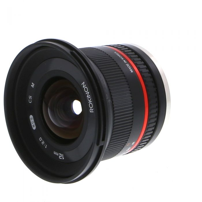 Rokinon 12mm F/2 NCS CS Manual Focus Lens For Canon Mirrorless EF-M Mount, Black {67}