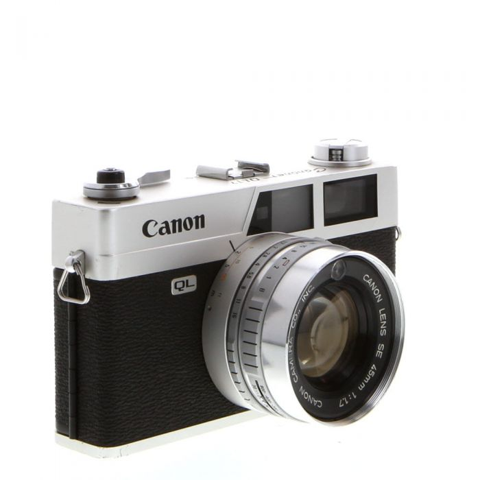 Canon Canonet QL17 35mm Rangefinder Camera With 45 F1.7 SE Lens