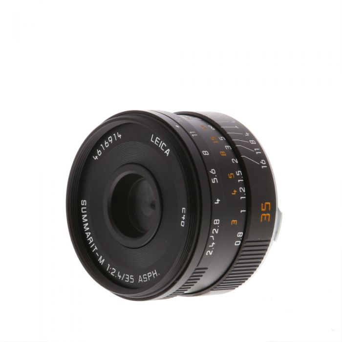 Leica 35mm f/2.4 Summarit-M Aspherical M-Mount Lens, Germany Black 6-Bit {E46} 11671 without Protection Ring