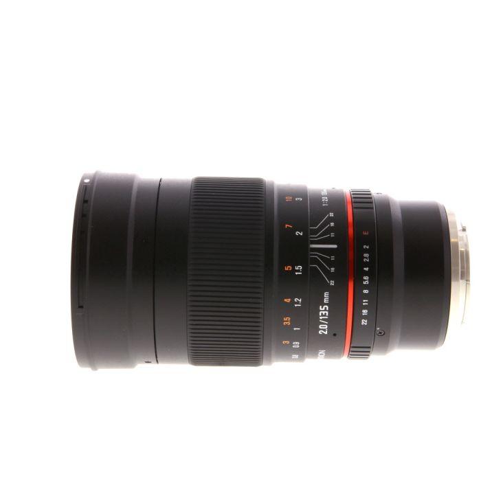Rokinon 135mm f/2 ED UMC Manual Focus Lens for Sony E-Mount {77}
