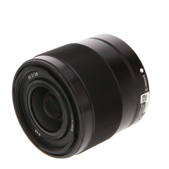 Sony FE 28mm f/2 E Mount Autofocus Lens, Black (SEL28F20) {49}