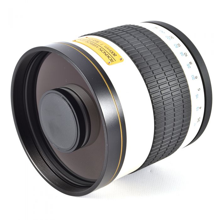 Rokinon 800mm f/8 DX Mirror Lens with T-Mount for Nikon, White {105}
