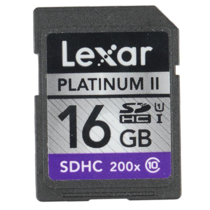 Lexar 16GB Class 10 200X Platinum II UHS 1 SDHC I Memory Card