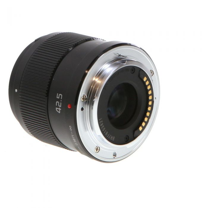 Panasonic Lumix G 42.5mm f/1.7 ASPH Power O.I.S. AF Lens without Decoration Ring for Micro Four Thirds MFT, Black {37} H-HS043K