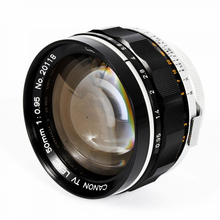 Canon 50mm f/0.95 TV Bayonet Lens for Rangefinder Camera, Black/Chrome {72} with Removable Fuji X Mount Adapter