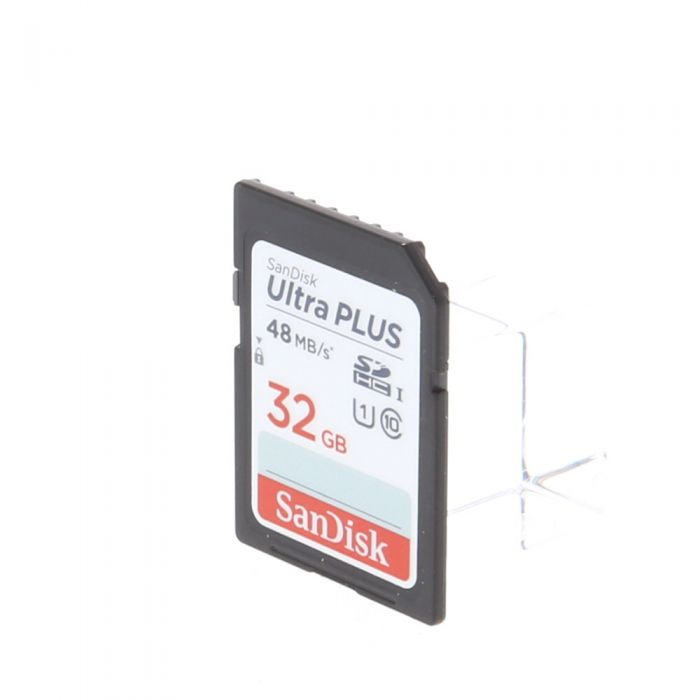 Sandisk 32GB 40 MB/s Class 10 UHS 1 Ultra Plus SDHC I Memory Card