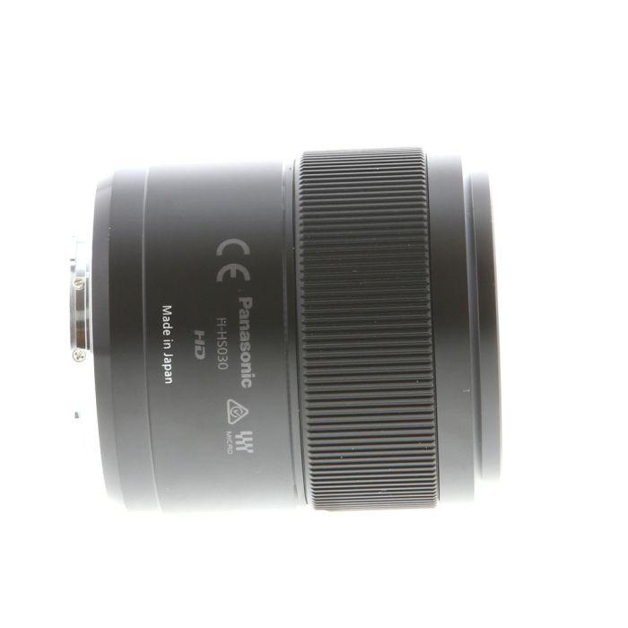 Panasonic Lumix G 30mm f/2.8 Macro ASPH. MEGA O.I.S. AF Lens for Micro Four Thirds MFT, Black {46} H-HS030