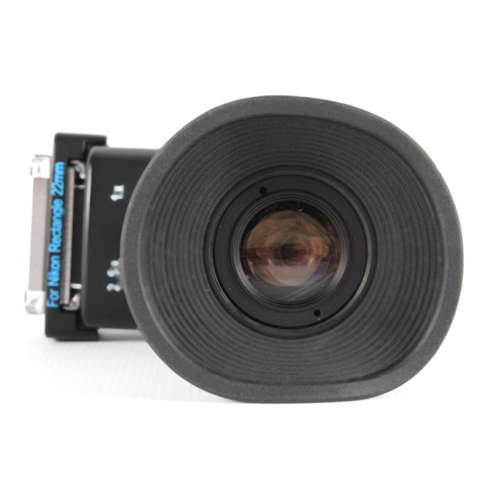 Hoodman H-RAV Universal Right Angle Viewer, With Adapters For Canon (18 & 22mm Rectangle), Nikon (22mm Rectangle & Round)