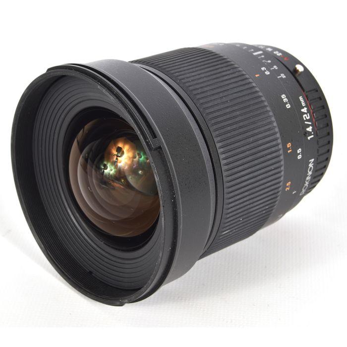 Rokinon 24mm f/1.4 ED AS IF UMC Manual Focus Lens For Pentax K-Mount {77}