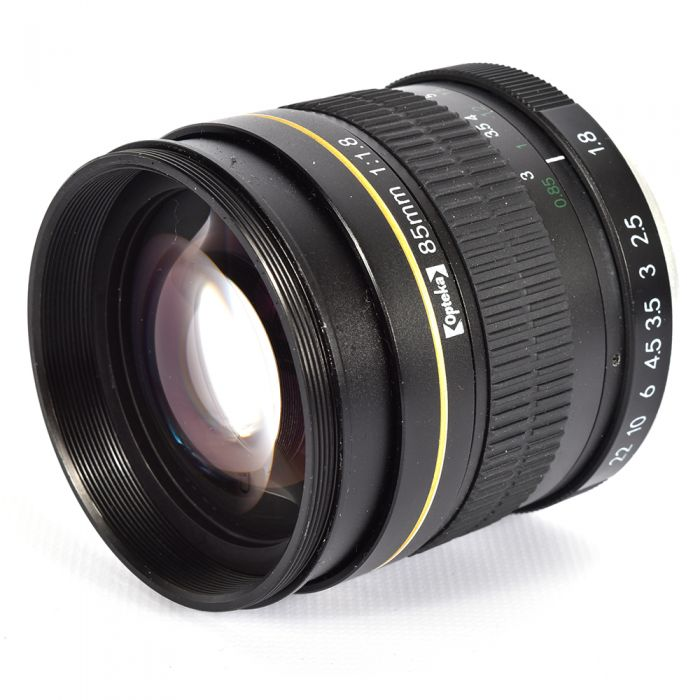 Opteka 85mm f/1.8 Manual Lens for Canon EF-Mount, Black {55}