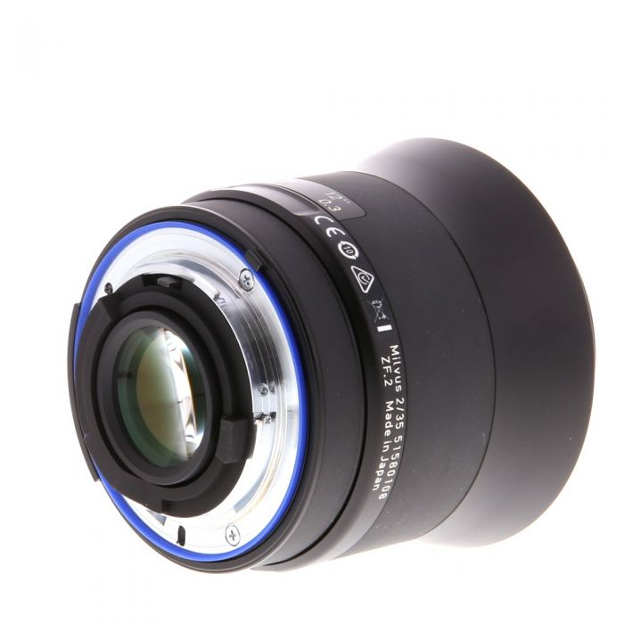 Zeiss Milvus 35mm f/2 Distagon ZF.2 T* Manual Focus Lens (With CPU Contacts) for Nikon F-Mount {58} with De-Click Tool