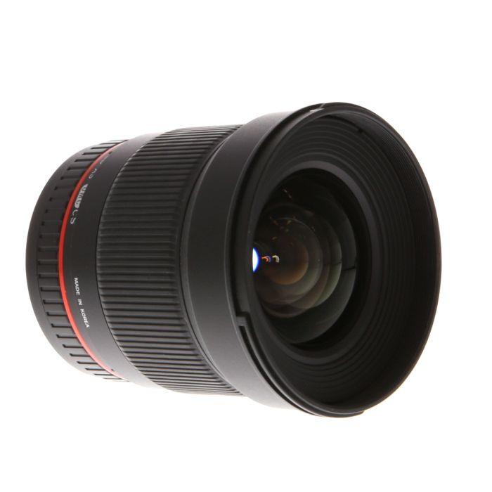 Rokinon 16mm f/2 Aspherical ED AS UMC CS Manual EF/S-Mount Lens for Canon APS-C DSLR{77}