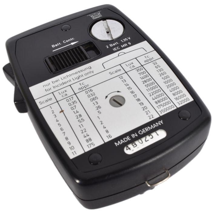 Gossen Lunasix 3 Black Ambient Light Meter (Euro Luna-Pro S)