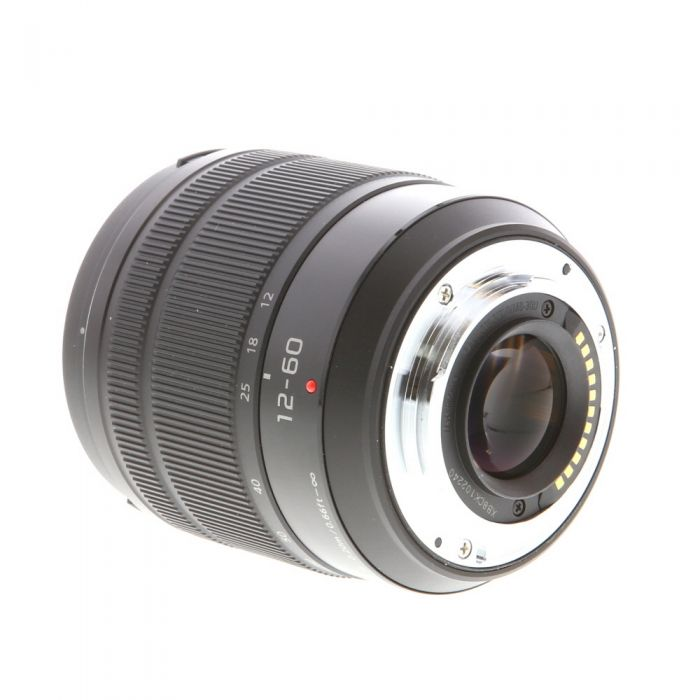 Panasonic Lumix 12-60mm f/3.5-5.6 G Vario Asph. Power O.I.S. AF Lens for MFT Micro Four Thirds System, Black {58}