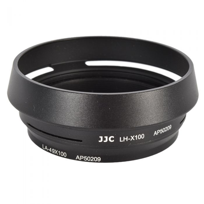 JJC Brand LH-JX100 Lens Hood for Fujifilm X100/100S/100T, Black, With 49mm Adapter