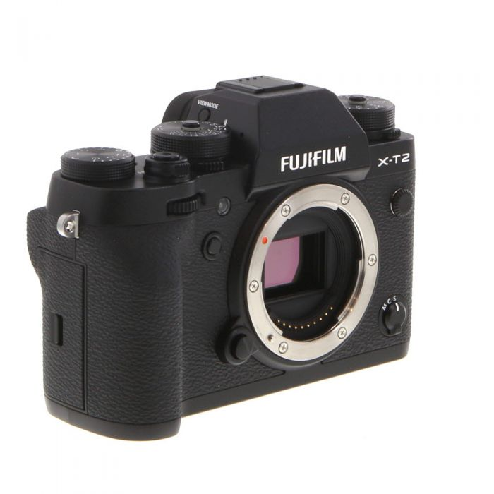 Fujifilm X-T2 Mirrorless Digital Camera Body, Black {24.3MP} with EF-X8 Flash
