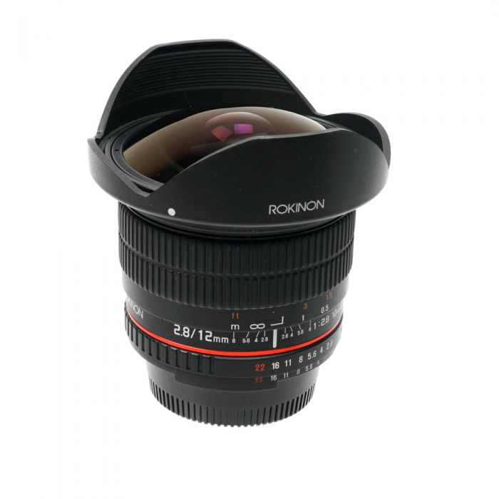Rokinon 12mm F/2.8 ED AS NCS IF UMC Fish-Eye Manual Focus Lens for Nikon (with AE Chip)