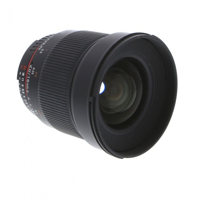 Rokinon 16mm f/2 ED AS UMC CS Manual Focus Lens with CPU Contacts for Nikon APS-C DSLR, Black {77}