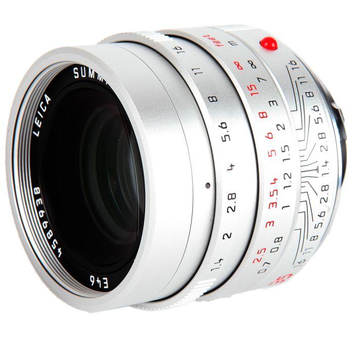 Leica 35mm f/1.4 Summilux-M ASPH. (FLE) M-Mount Lens, Germany, Silver Chrome, 6-Bit {E46} 11675
